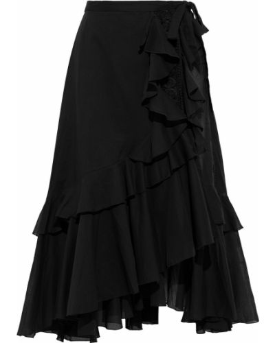 Кружевная юбка миди - черная Charo Ruiz Ibiza