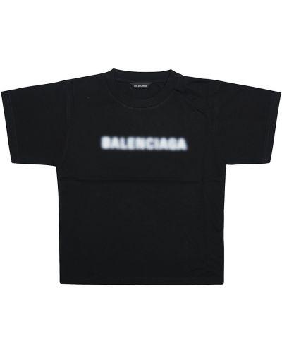 T-shirt - czarna Balenciaga