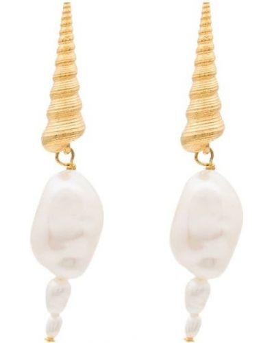 Белые серьги-гвоздики Anni Lu