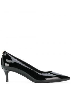 Черные туфли-лодочки с острым носом из натуральной кожи на каблуке Michael Michael Kors