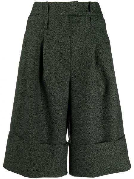 Свободные хлопковые черные бермуды с карманами Jejia