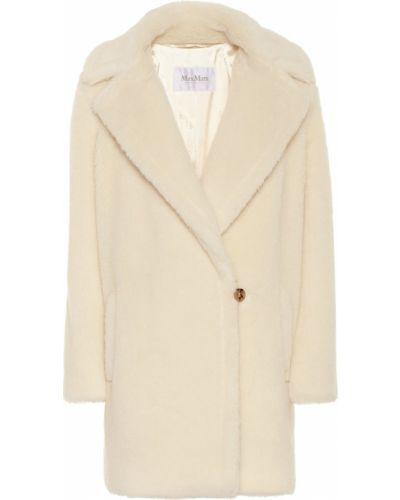 Белое пальто из альпаки Max Mara