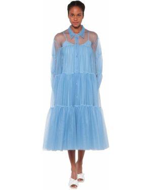 Платье миди из фатина макси Brognano