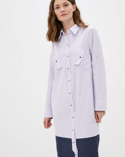 Платье рубашка - фиолетовое Adzhedo