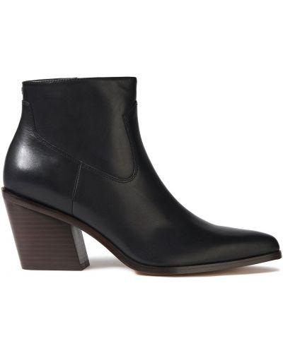 Czarne ankle boots skorzane kaskadowe Rag & Bone