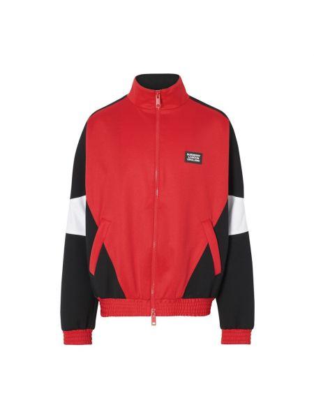 Bluza dresowa - czerwona Burberry
