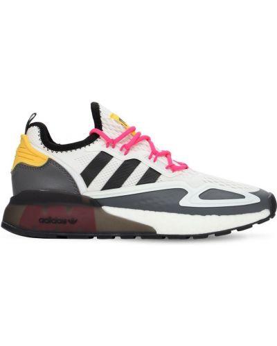 Koronkowa biały sneakersy na sznurowadłach Adidas Originals