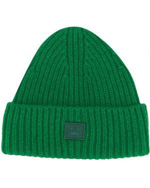 Zielona czapka wełniana Acne Studios