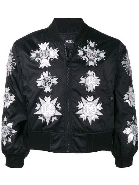 Черная нейлоновая куртка с декоративной отделкой на молнии Ktz