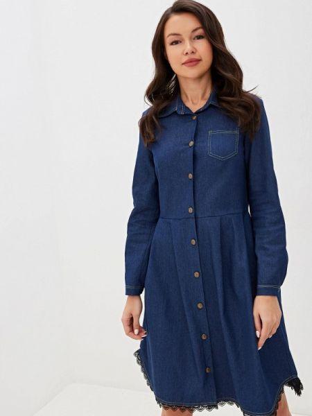 Синее джинсовое платье Am One