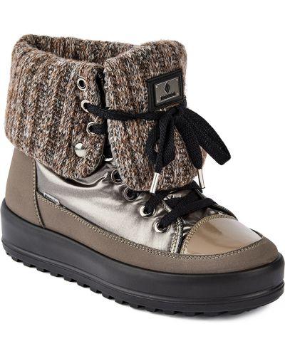 Текстильные коричневые ботинки на шнурках Jog Dog