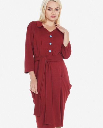 Платье красный осеннее Artwizard
