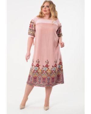 Платье персиковое платье-сарафан Wisell