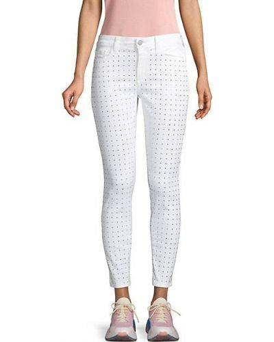 Зауженные белые джинсы-скинни с карманами Siwy