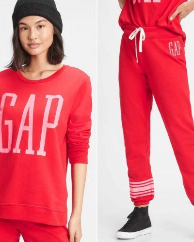 Флисовый спортивный костюм - красный Gap