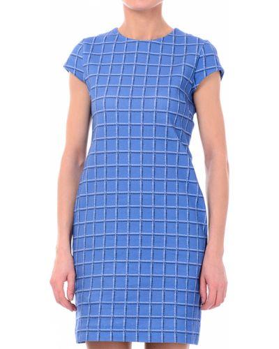 Платье осеннее синее Love Moschino