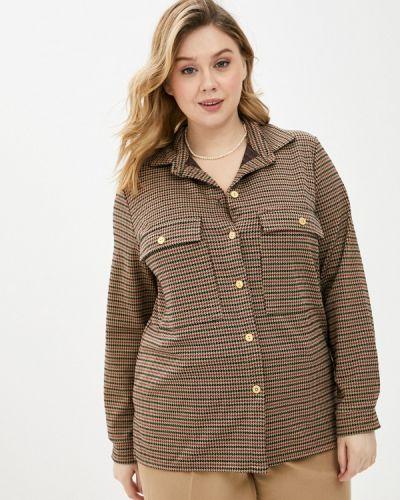Коричневая рубашка Prewoman
