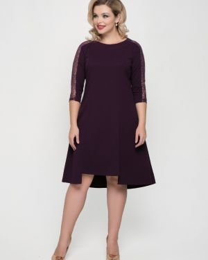 Платье с пайетками со вставками тм леди агата