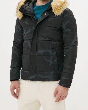 Утепленная куртка демисезонная черная Jackets Industry