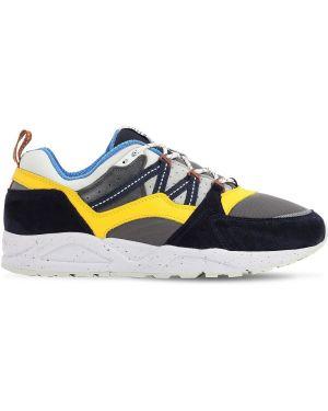 Sneakersy sznurowane koronkowe zamszowe Karhu