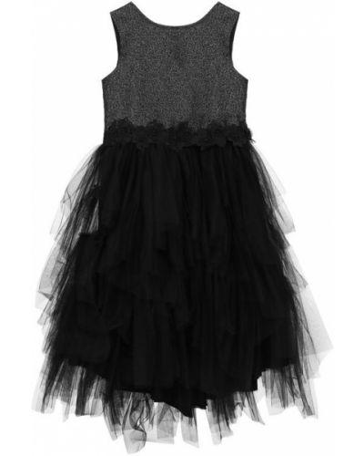 Платье с поясом с бисером вязаное Aletta
