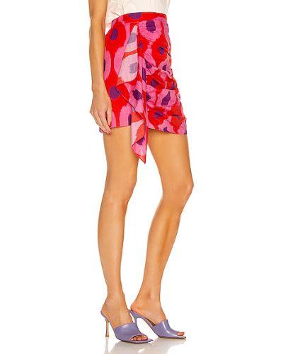 Różowa spódnica bawełniana kaskadowa Rhode