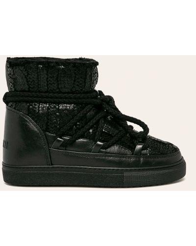 Зимние ботинки на шнуровке черные Inuikii