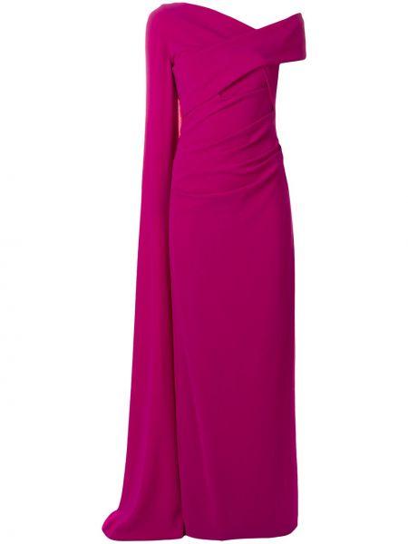 С рукавами розовая накидка Talbot Runhof