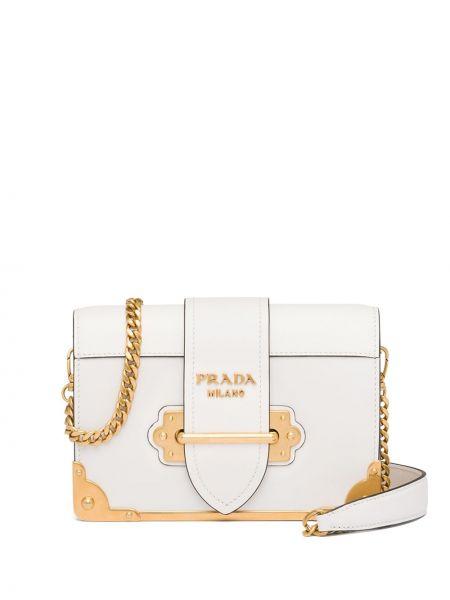 Skórzana torebka mini na łańcuszku Prada
