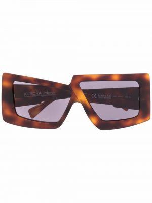 Солнцезащитные очки оверсайз - коричневые Kuboraum