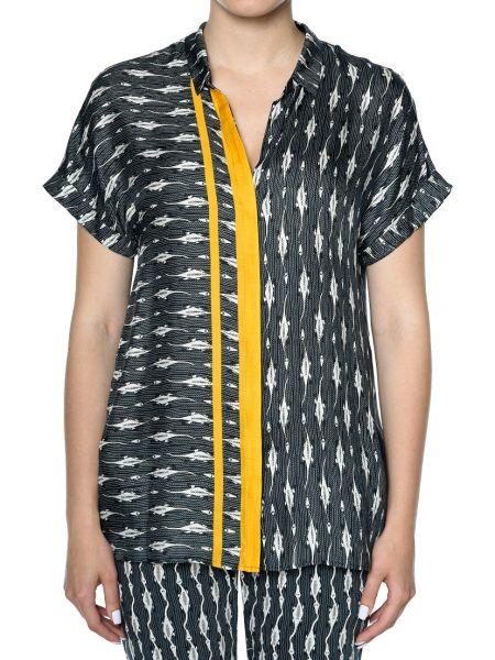 Шелковая блузка - черная Rene Lezard