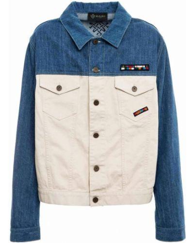 Klasyczne niebieskie jeansy z haftem Mr&mrs Italy