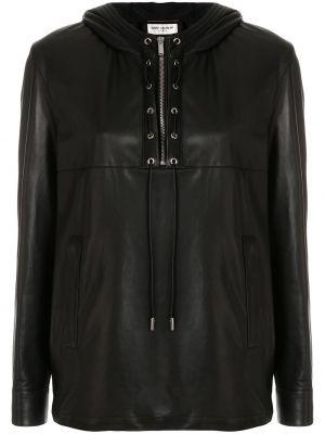 Рубашка с длинным рукавом - черная Saint Laurent