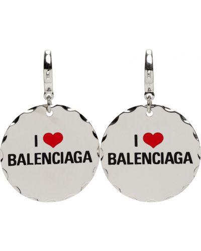 Черные серьги Balenciaga