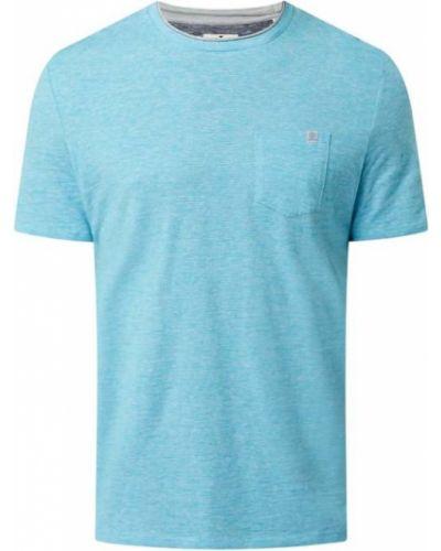 Koszulka bawełniana turkusowa Tom Tailor