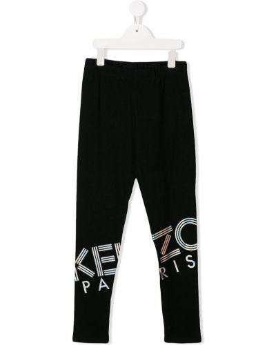 Czarne legginsy bawełniane Kenzo Kids