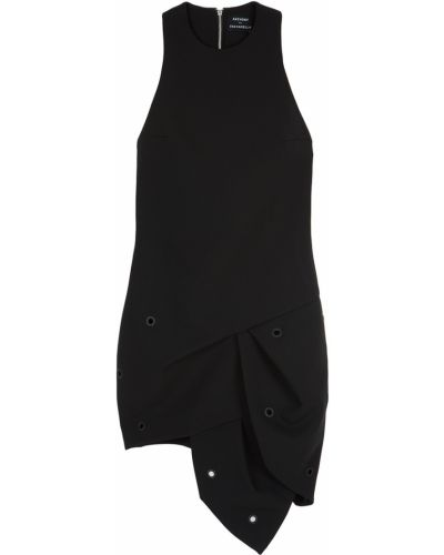Асимметричное черное платье с драпировкой Anthony Vaccarello