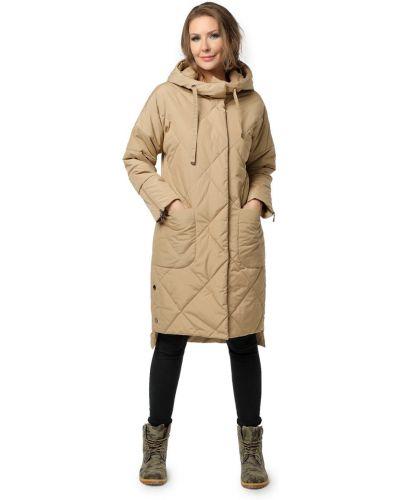Длинное пальто с капюшоном оверсайз с воротником Dizzyway