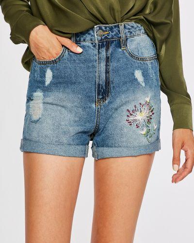 Джинсовые шорты с завышенной талией синий Jacqueline De Yong