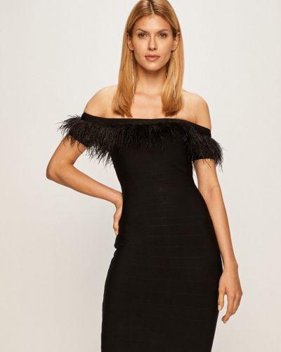 Платье мини с перьями из вискозы Marciano Guess