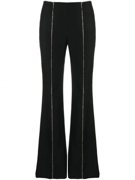 Rozbłysnął czarny wełniany spodnie z fałdami Givenchy