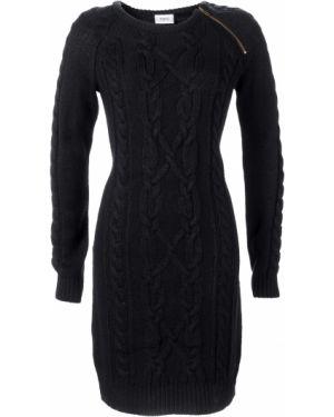 Платье вязаное на молнии Bonprix