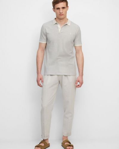 Biały t-shirt bawełniany w paski Marc O Polo
