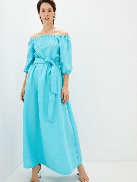 Платье бирюзовый весеннее Maurini