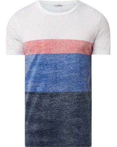 Niebieski t-shirt w paski bawełniany Tom Tailor Denim