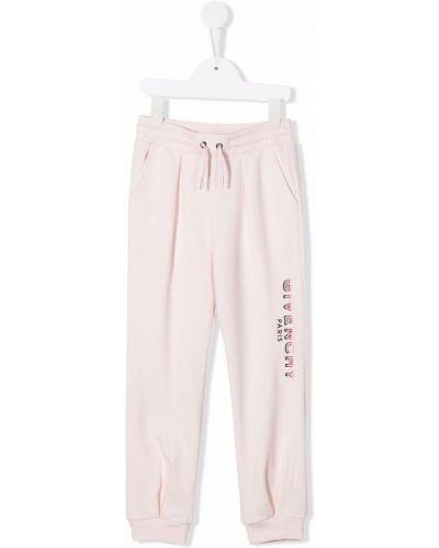 Różowe spodnie Givenchy