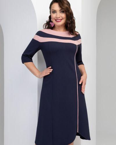 Тонкое розовое платье свободного кроя для офиса Charutti