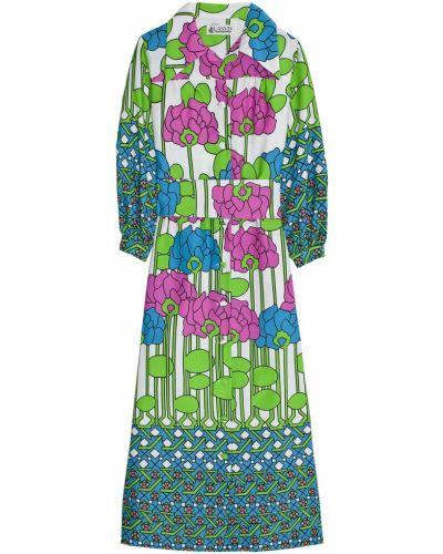 Платье с цветочным принтом платье-рубашка Lanvin Vintage