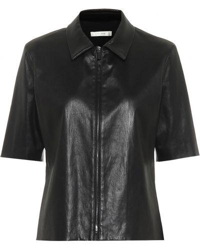Кожаная рубашка - черная The Row