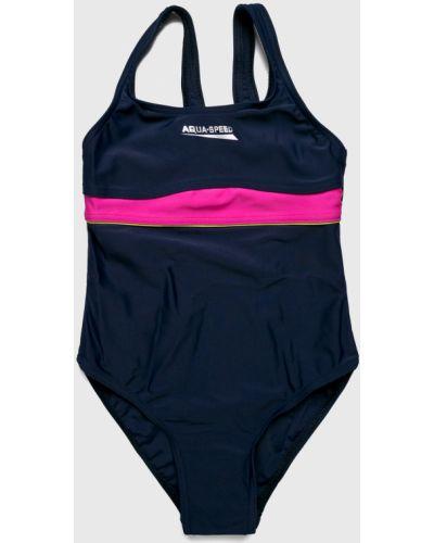 Слитный купальник эластичный синий Aqua Speed